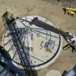 assembling a grain bin roof